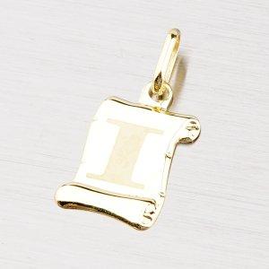 Zlatý přívěsek - písmenko I 43-2064I