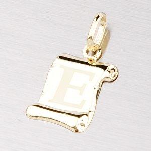 Zlatý přívěsek - písmenko E 43-2064E