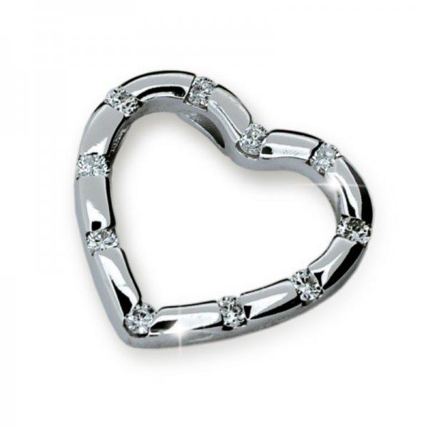 Přívěsek - srdce s diamanty DF1941