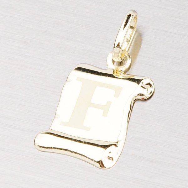 Zlatý přívěsek - písmenko F 43-2064F