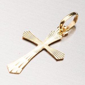Zlatý přívěsek - kříž 13-340