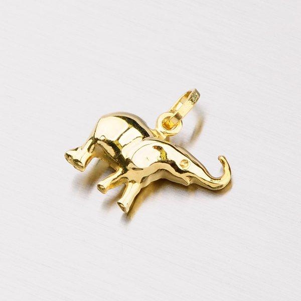 Zlatý přívěsek - Slon 1-356