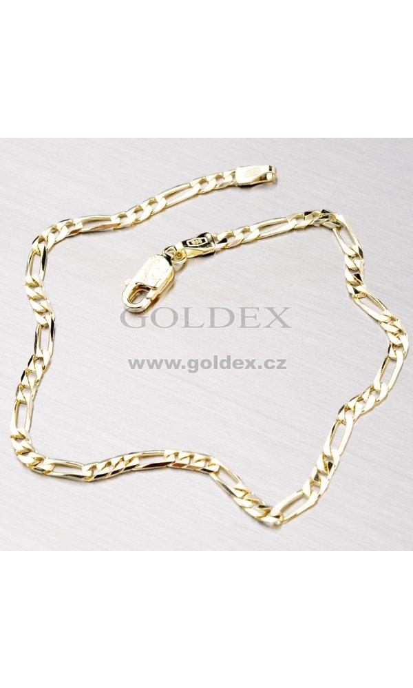 a5c5610b8 Zlatý náramek - Figaro 3+1 44-1115 : Goldex.cz