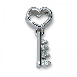 Přívěsek - klíč s diamanty DF1921