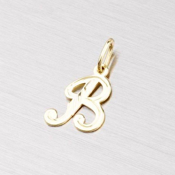 Zlatý přívěsek - písmenko B 2-4002-B
