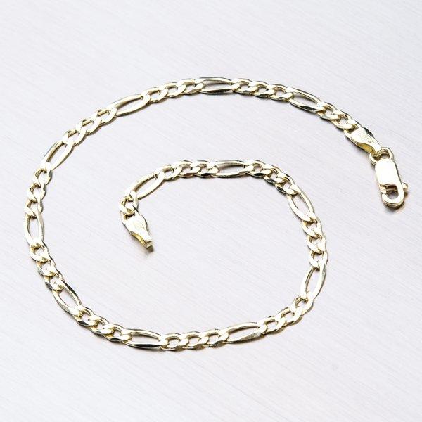 Zlatý náramek - Figaro 3+1 44-1185