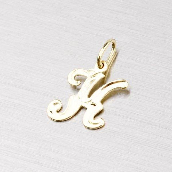 Zlatý přívěsek - písmenko K 2-4002-K