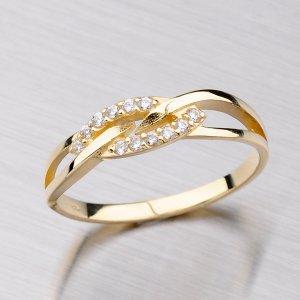 Prsten ze žlutého zlata 681-0087