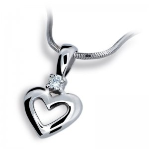 Přívěsek ze zlata - srdce DZ1603B