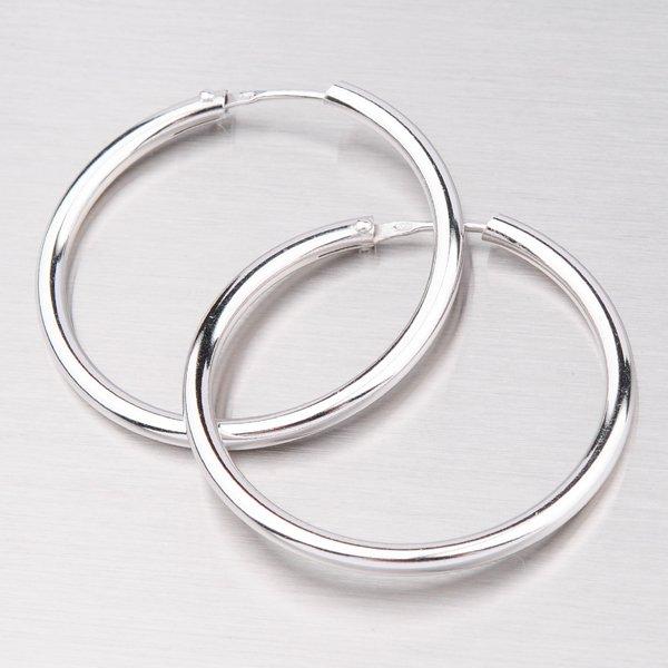Stříbrné kruhy 35 mm 6984