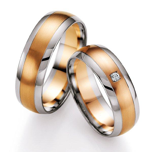 Snubní prsteny s diamantem SP-701