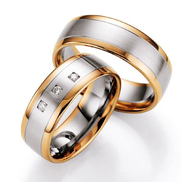 Snubní prsteny s diamantem SP-704
