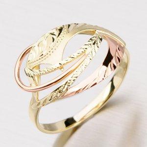 Prsten ze žlutého a červeného zlata 51P-521