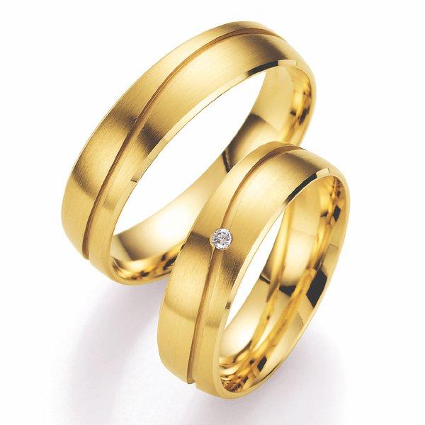 Snubní prsteny s diamantem SP-506