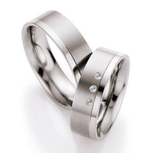 Titanové snubní prsteny s diamanty T714B T714B