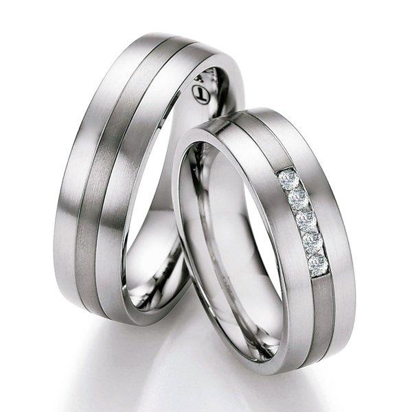 Snubní prsteny ocelové s titanem TS609