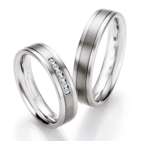 Snubní prsteny ocelové s titanem TS606