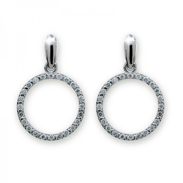 Dámské naušnice s diamanty DF1979