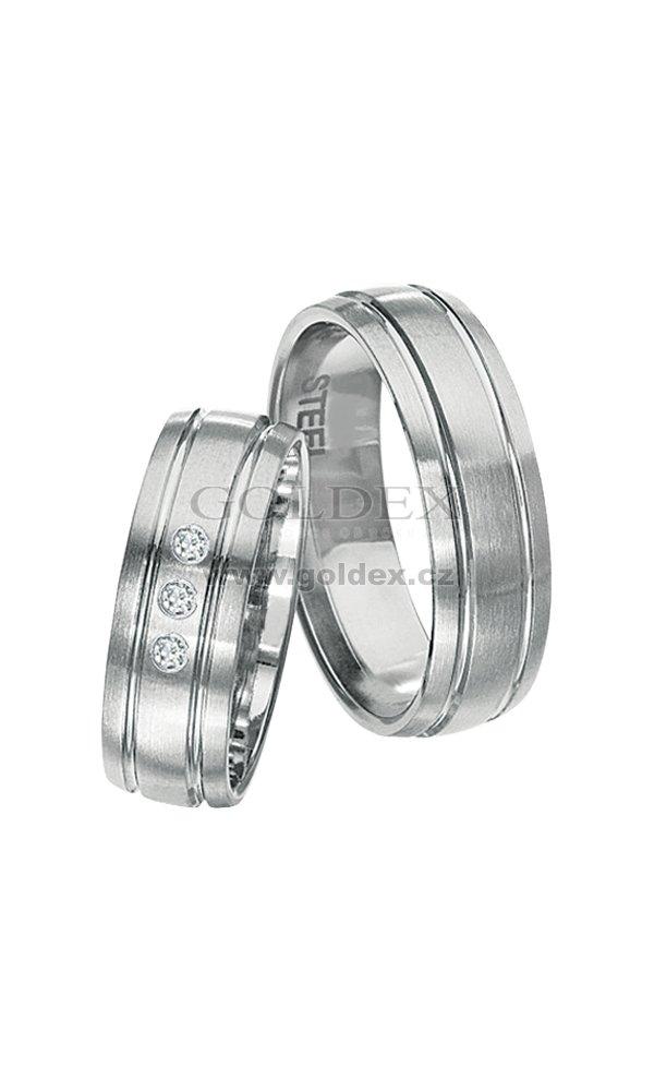 Snubni Prsteny Z Chirurgicke Oceli Spts146 Goldex Cz