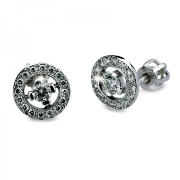 Dámské naušnice s diamanty DF1988
