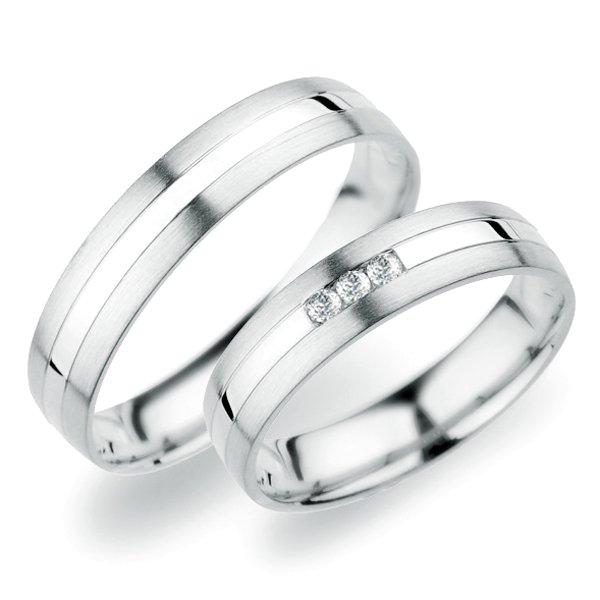 Snubní prsteny z bílého zlata SP-250B
