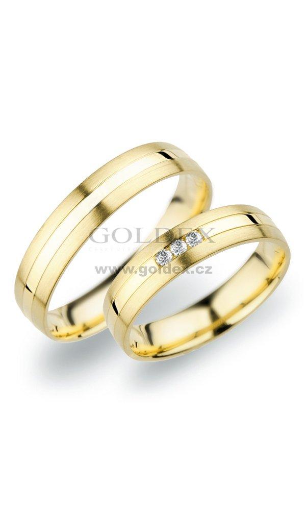 Sp 250 Snubni Prsteny Ze Zluteho Zlata Sp 250z Goldex Cz