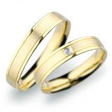 Snubní prsteny ze žlutého zlata SP-247Z