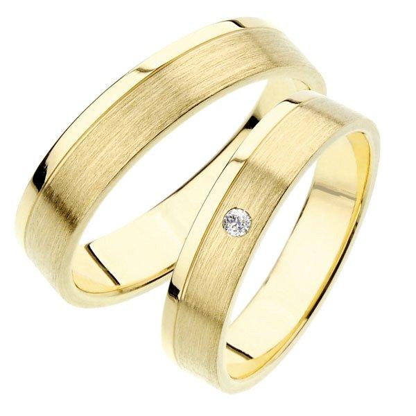 SP-242 Snubní prsteny ze žlutého zlata SP-242Z