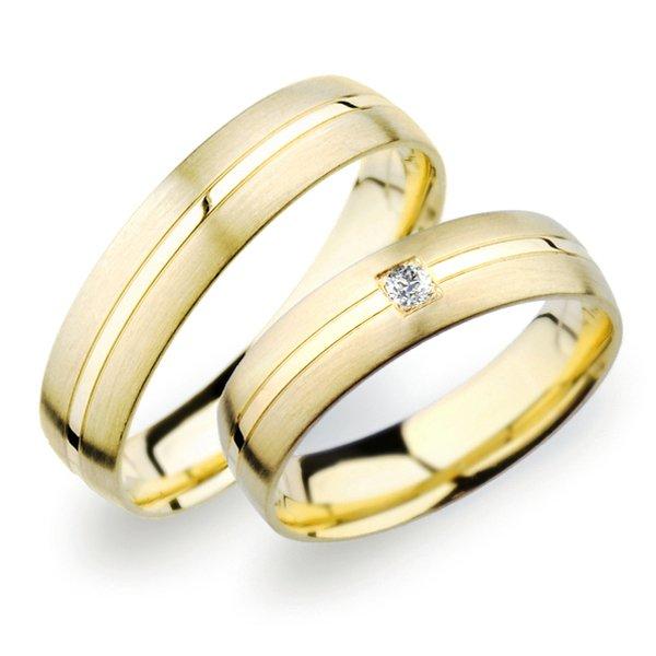 Snubní prsteny ze žlutého zlata SP-249Z
