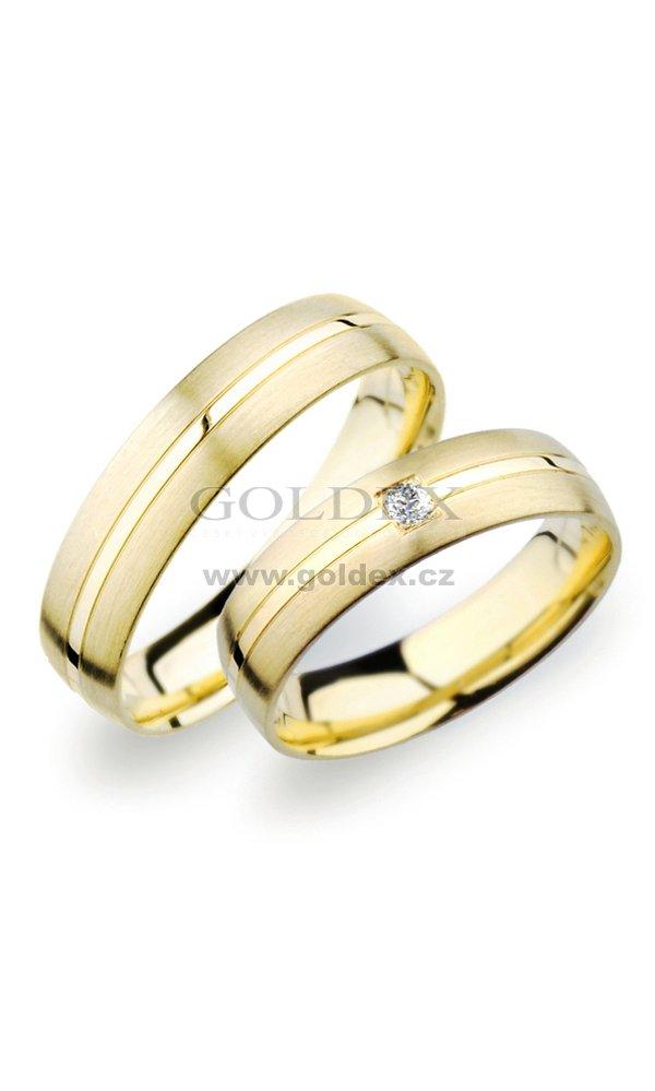 Sp 249 Snubni Prsteny Ze Zluteho Zlata Sp 249z Goldex Cz