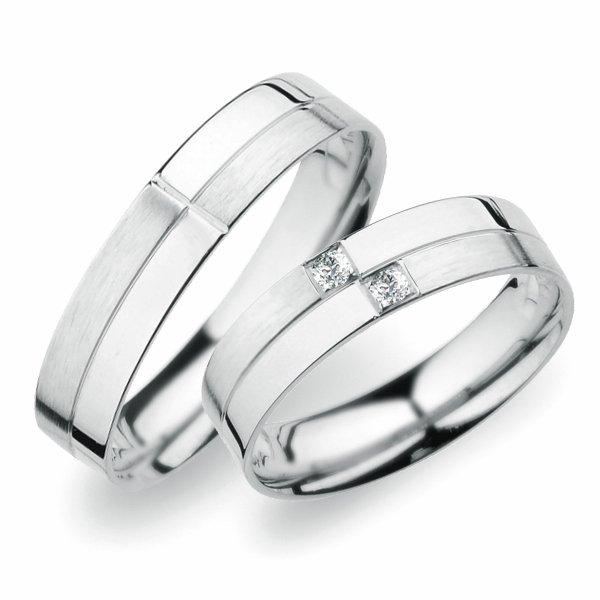 SP-255 Snubní prsteny z bílého zlata SP-255B