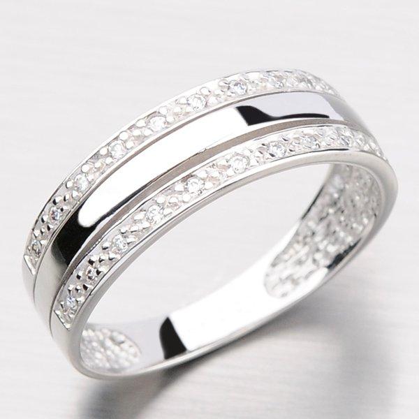 Zlatý prsten se zirkony DZ1773-B