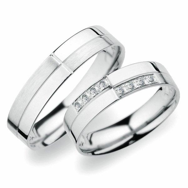 Snubní prsteny z bílého zlata SP-256B
