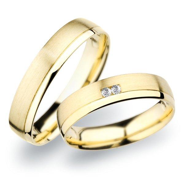 SP-257 Snubní prsteny ze žlutého zlata SP-257Z