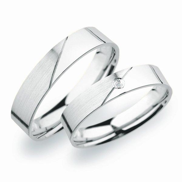 Sp 246 Snubni Prsteny Z Bileho Zlata Sp 246b Goldex Cz