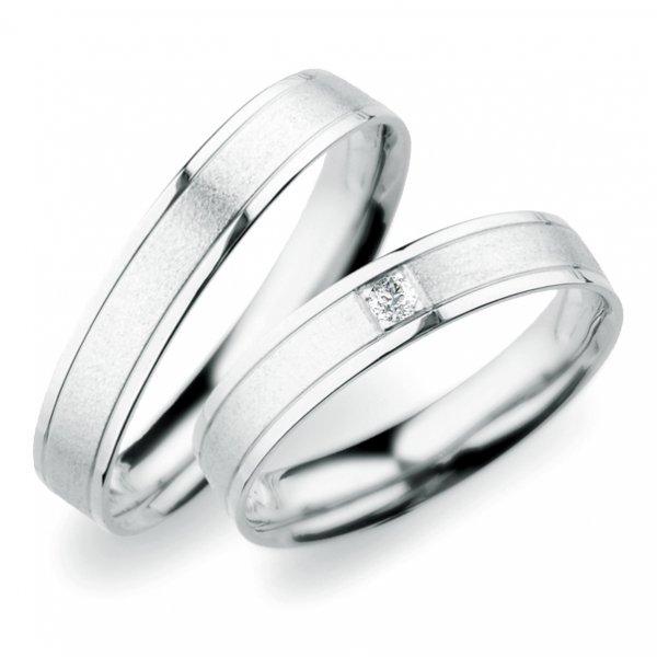 Snubní prsteny z bílého zlata SP-247B