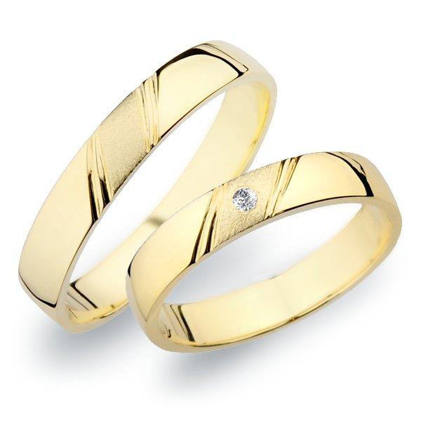 Snubní prsteny ze žlutého zlata SP-258Z