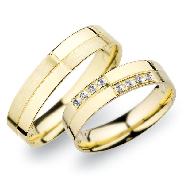 Snubní prsteny ze žlutého zlata SP-256Z