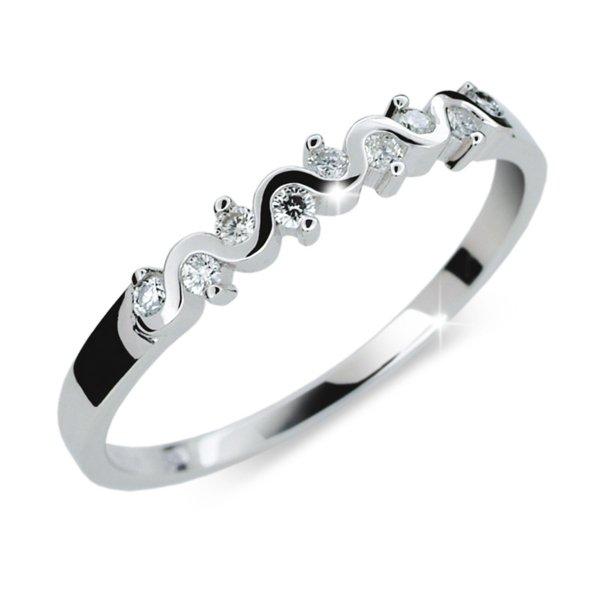 Zásnubní prsten se zirkony ZP2086