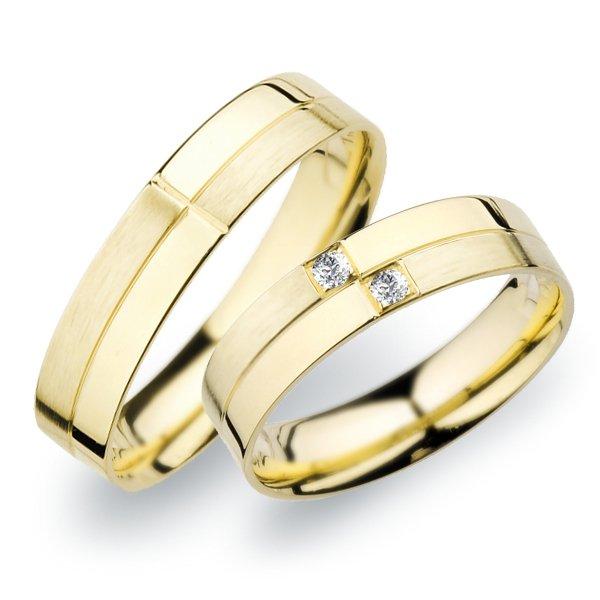Snubní prsteny ze žlutho zlata SP-255Z
