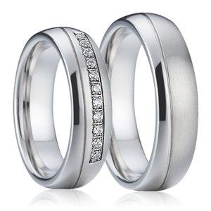 Ocelové snubní prsteny SP-7001