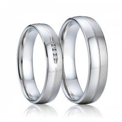 Ocelové snubní prsteny SP-7011