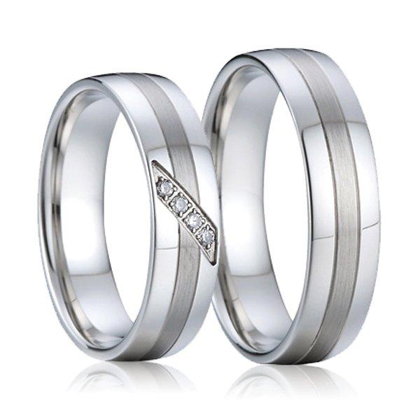 Ocelové snubní prsteny SP-7004