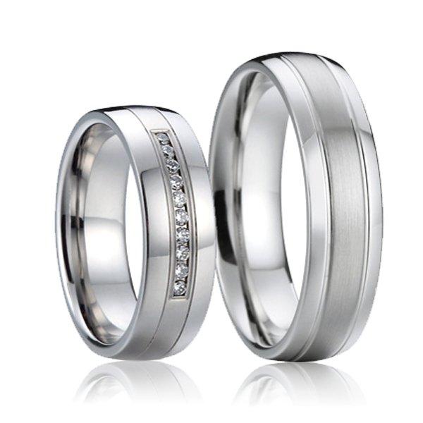 SP-7015 Ocelové snubní prsteny SP-7015