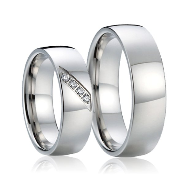 Snubní prsteny ocelové SP-7017