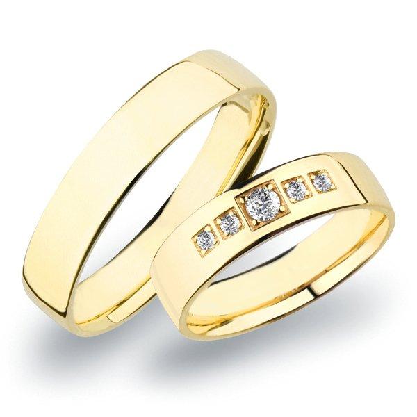 SP-273 Snubní prsteny žluté zlato SP-273Z