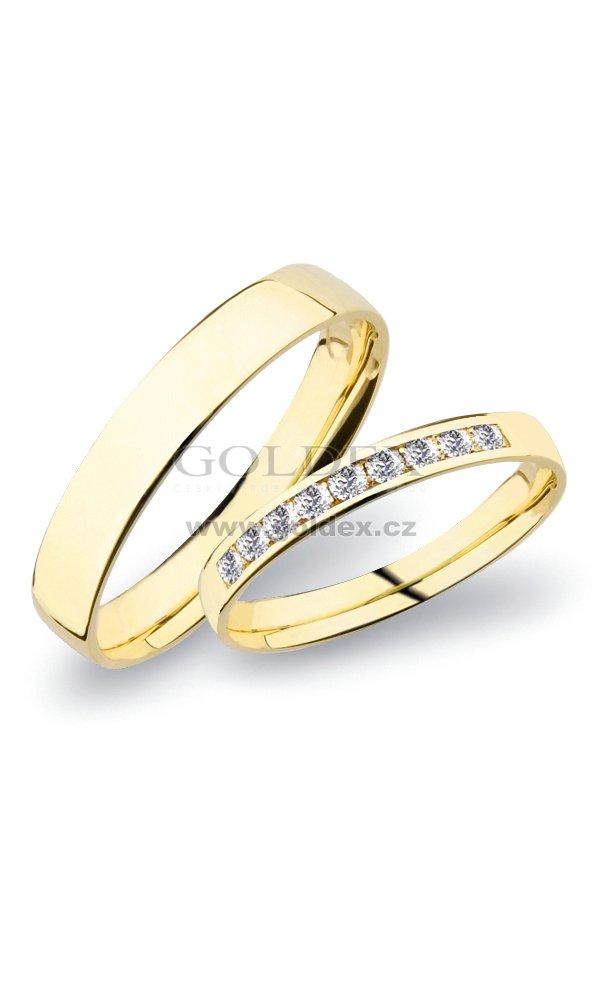 Sp 277 Snubni Prsteny Zlute Zlato Sp 277z Goldex Cz