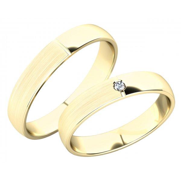 Snubní prsteny ze žlutého zlata SP-244Z