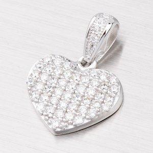 Srdce ze zirkony AP652
