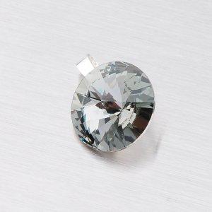 Přívěsek s černým krystalem 10 mm D119ČN